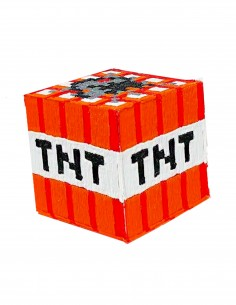 TNT Майнкрафт (трафарет для 3D-ручки)