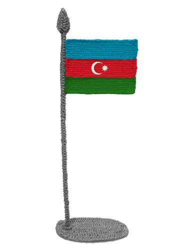 Flag of Azerbaijan (Free Template For a 3D Pen)