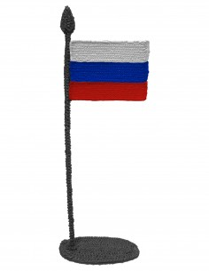 Flag of Russia (Free Template For a 3D Pen)