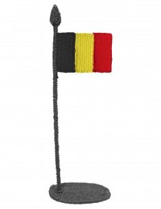 Flag of Belgium (Free Template For a 3D Pen)