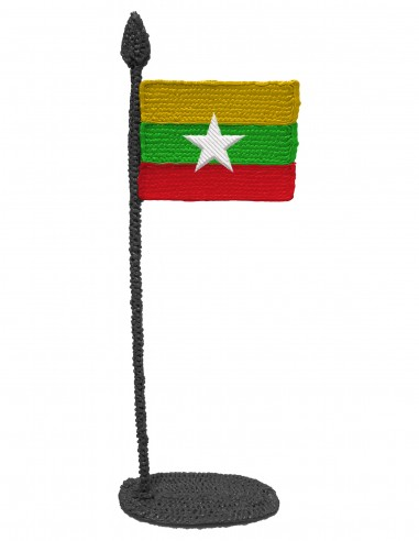 Flag of Myanmar (Free Template For a 3D Pen)