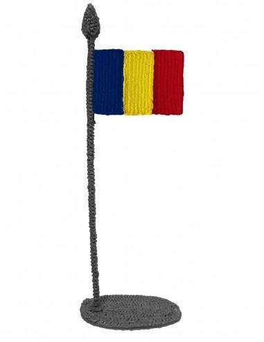 Флаг Румынии (трафарет для 3D-ручки)
