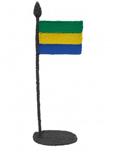 Флаг Габона (трафарет для 3D-ручки)
