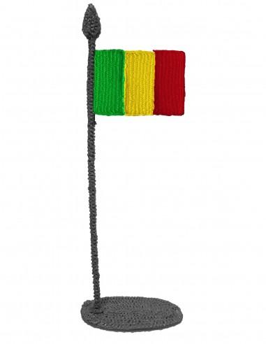 Флаг Мали (трафарет для 3D-ручки)
