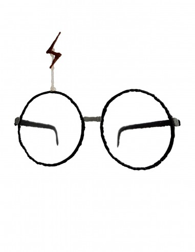 Очки №8 - Гарри Поттер (Бесплатный трафарет для 3D-ручки)