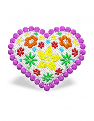 Heart with flowers (Free Template For a 3D Pen)