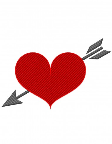 Heart with arrow (Free Template For a 3D Pen)