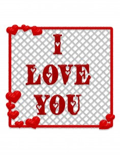 I love you (Free Template For a 3D Pen)
