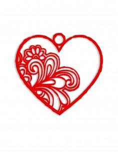 Openwork heart (Free Template For a 3D Pen)