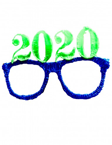Glasses №11 - New Year 2020 (Free Template For a 3D Pen)