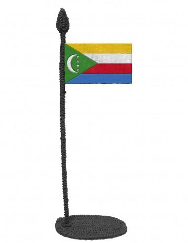 Флаг Коморских островов (трафарет для 3D-ручки)