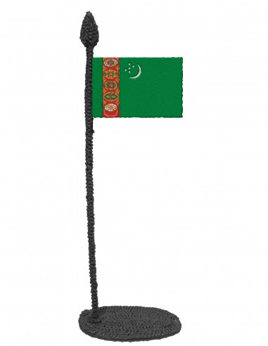 Flag of Turkmenistan (Free Template For a 3D Pen)