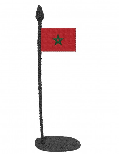 Flag of Morocco (Free Template For a 3D Pen)
