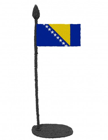 Flag of Bosnia and Herzegovina (Free Template For a 3D Pen)