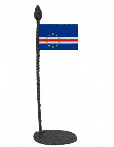 Flag of Cape Verde (Free Template For a 3D Pen)