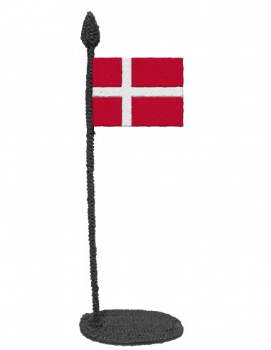 Flag of Denmark (Free Template For a 3D Pen)