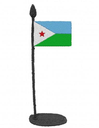 Флаг Джибути (трафарет для 3D-ручки)
