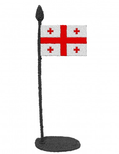 Flag of Georgia (Free Template For a 3D Pen)