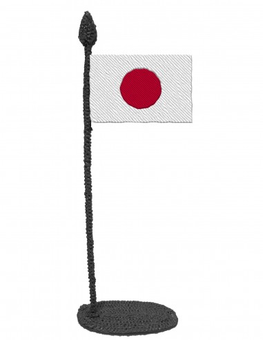 Flag of Japan (Free Template For a 3D Pen)