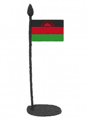 Флаг Малави (трафарет для 3D-ручки)