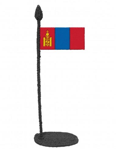 Флаг Монголии (трафарет для 3D-ручки)