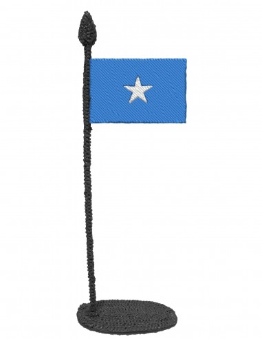 Flag of Somalia (Free Template For a 3D Pen)