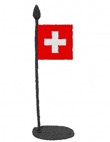 Flag of Switzerland (Free Template For a 3D Pen)