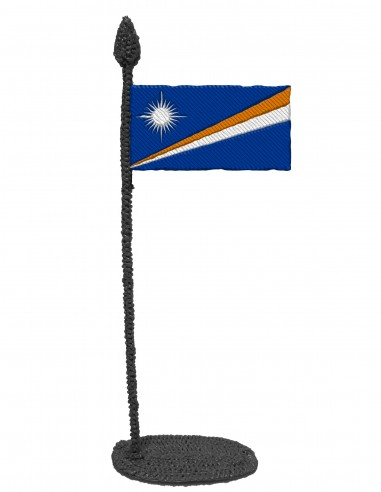 Flag of Marshall Islands (Free Template For a 3D Pen)