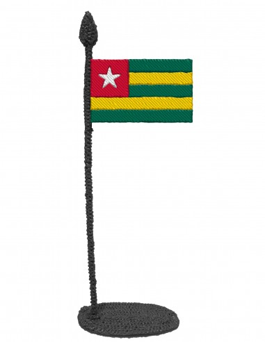 Flag of Togo (Free Template For a 3D Pen)