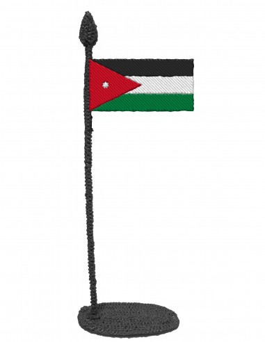 Flag of Jordan (Free Template For a 3D Pen)