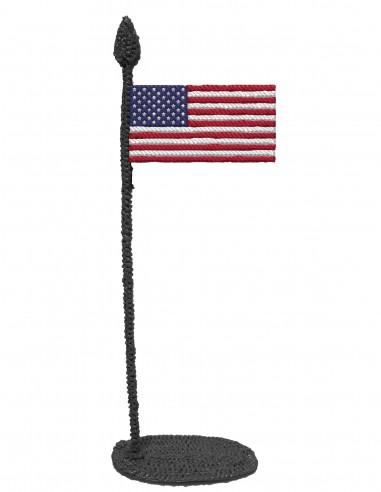 Флаг Америки (трафарет для 3D-ручки)