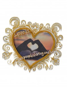 Heart photo frame (Free Template For a 3D Pen)