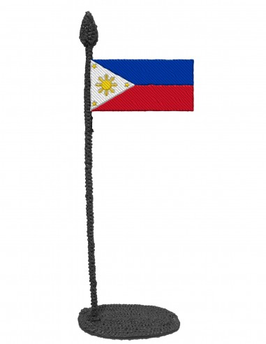 Флаг Филиппины (трафарет для 3D-ручки)
