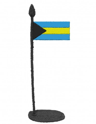 Flag of The Bahamas(Free Template For a 3D Pen)