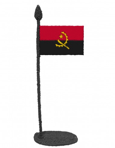 Flag of Angola (Free Template For a 3D Pen)
