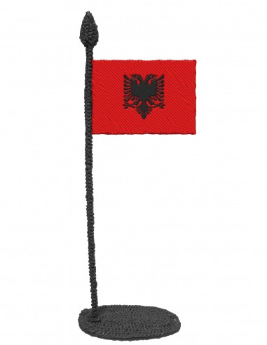 Flag of Albania (Free Template For a 3D Pen)