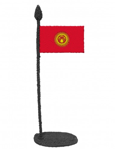 Flag of Kyrgyzstan (Free Template For a 3D Pen)