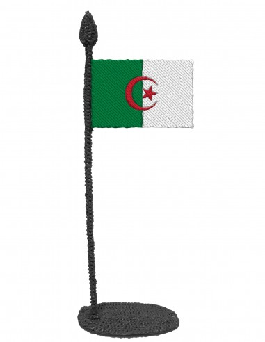 Флаг Алжира (трафарет для 3D-ручки)