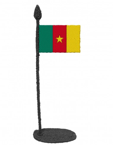 Flag of Cameroon (Free Template For a 3D Pen)