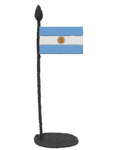 Flag of Argentina (Free Template For a 3D Pen)