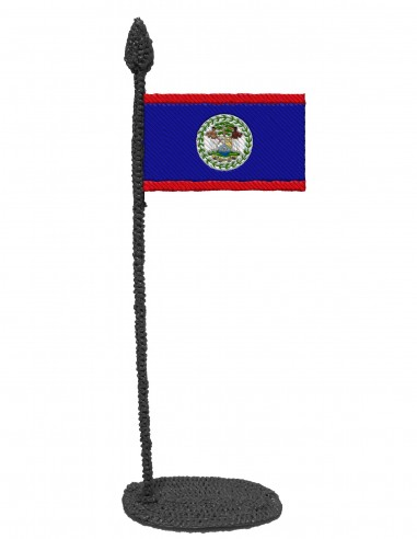 Flag of Belize (Free Template For a 3D Pen)