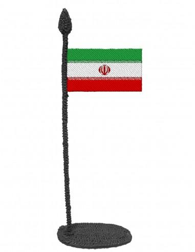 Флаг Ирана (Трафарет для 3D-ручки)