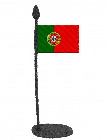 Flag of Portugal (Free Template For a 3D Pen)