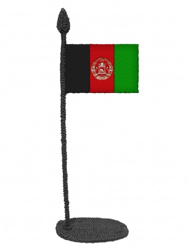 Flag of Afghanistan (Free Template For a 3D Pen)