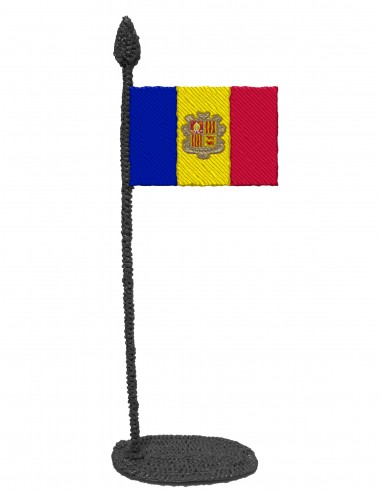 Flag of Andorra (Free Template For a 3D Pen)