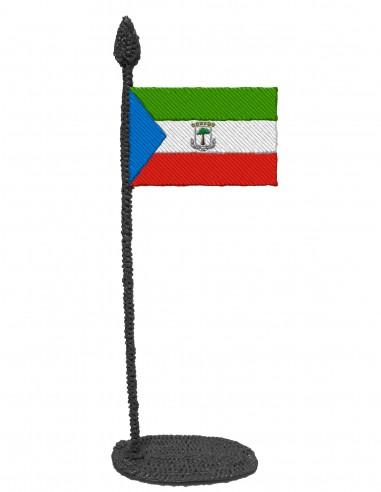 Flag of Equatorial Guinea (Free Template For a 3D Pen)