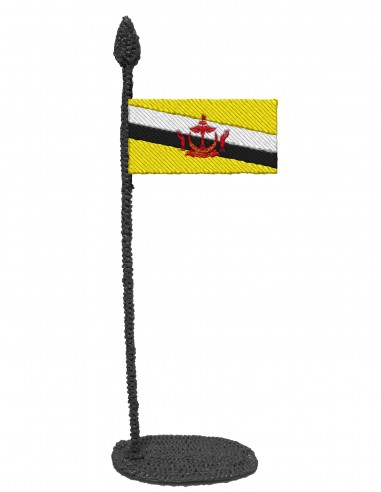 Flag of Brunei (Free Template For a 3D Pen)