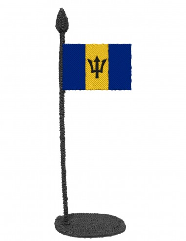 Flag of Barbados (Free Template For a 3D Pen)