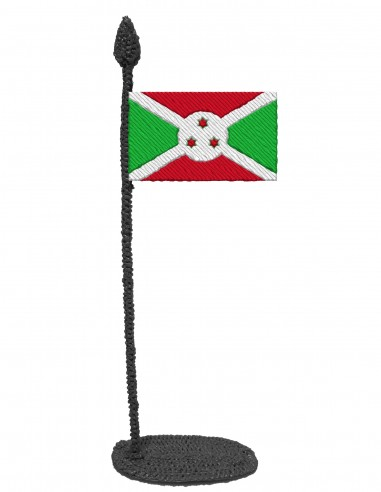 Flag of Burundi (Free Template For a 3D Pen)