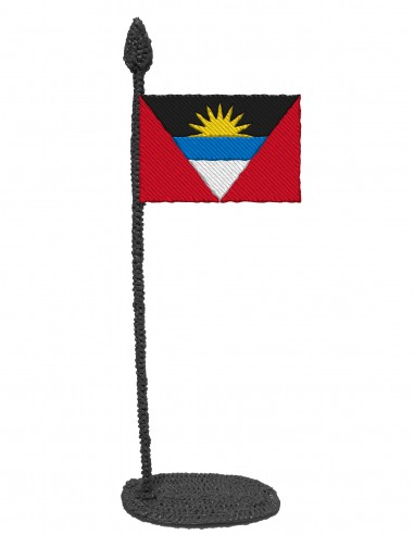 Flag of Antigua And Barbuda (Free Template For a 3D Pen)